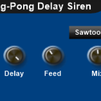 THE SCIENTIST SUPER PING- PONG DELAY SIREN